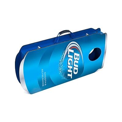 Bud Light Can Cornhole Bean Bag Toss Game Set, Blue/White