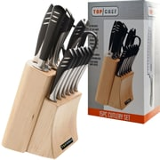 Top Chef® 15-Piece Stainless Steel Knife Set, Black