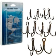 Gone Fishing™ Set Of 10 Assorted Sizes Treble Hooks
