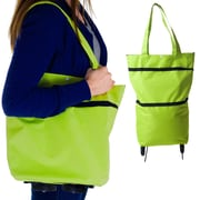 Trademark Eco-Friendly Foldable Two-Way Shopping Bag, Green