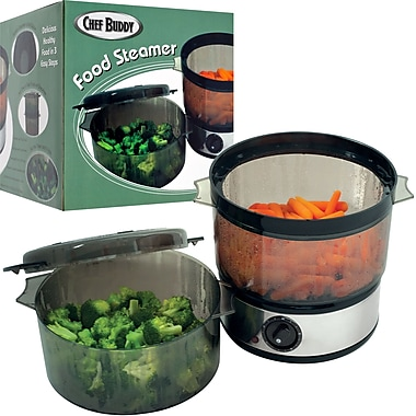 Chef Buddy™ Food Steamer With Two Containers