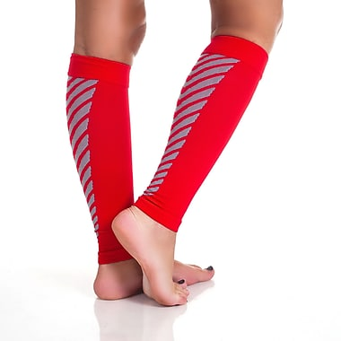 Remedy™ Calf Compression Running Sleeve Socks, Red, Medium