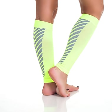 Remedy™ Calf Compression Running Sleeve Socks, Neon, Medium