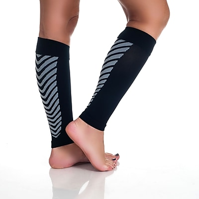 Trademark Remedy™ Calf Compression Running Sleeve Socks, Black, XL