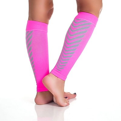 Trademark Remedy™ Calf Compression Running Sleeve Socks, Pink, XL
