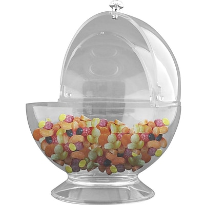Trademark Chef Buddy™ Sweets and Treats Bowl With Lid, Clear
