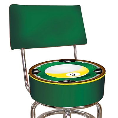 Trademark 40'' Novelty Swiveling Base Padded Bar Stool, Green (844296015658)