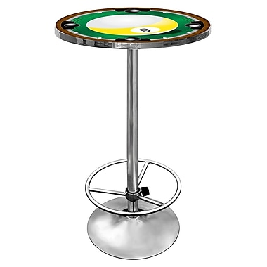 Trademark Chrome Pub Table, 9 Ball