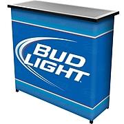 "Trademark 36"" Metal Portable Bar With Case, Bud Light"