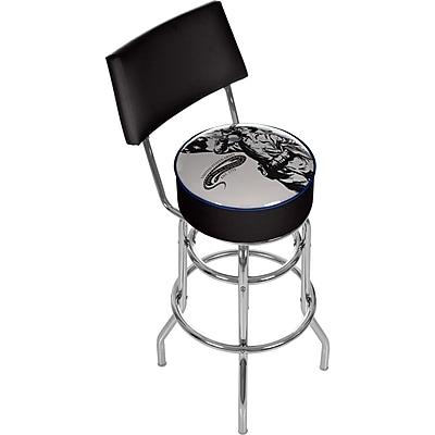 Trademark 41.75'' Modern Swiveling Base Padded Bar Stool, Black (886511378735)