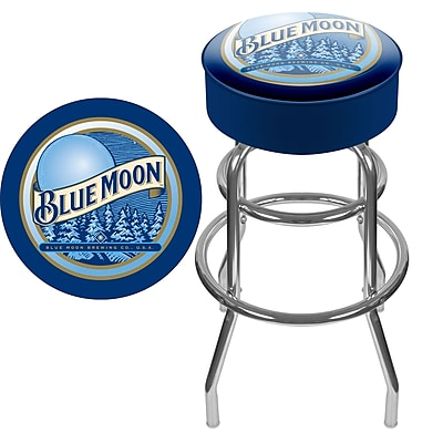 Trademark 30'' Novelty Swiveling Base Padded Bar Stool, Blue/White (886511378780)