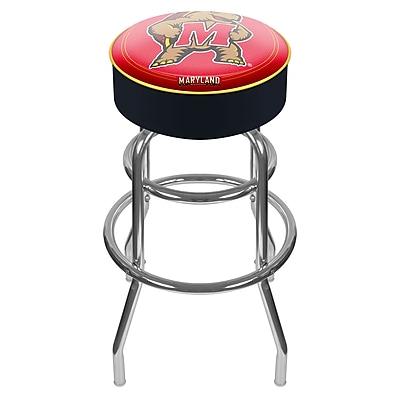 Trademark NCAA® 31'' Novelty Swiveling Base Padded Bar Stool, Black (844296017584)