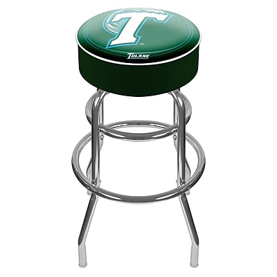 Trademark NCAA® 31'' Novelty Swiveling Base Padded Bar Stool, Green (844296017621)