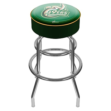 Trademark NCAA® 31'' Novelty Swiveling Base Padded Bar Stool, Chrome (844296017638)