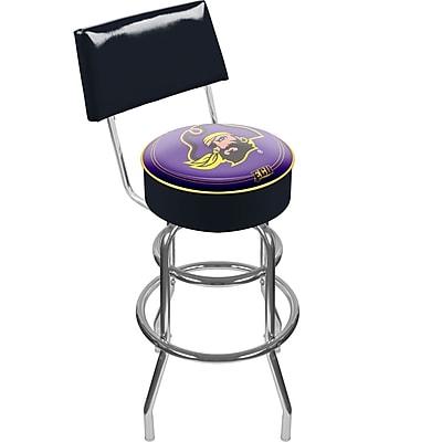 Trademark NCAA® 41.75'' Modern Swiveling Base Padded Bar Stool, Black (844296017348)