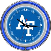 "Trademark 14"" Double Ring Neon Clock, Air Force Falcons"
