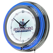 "Trademark 14"" Double Ring Neon Clock, Gonzaga University"