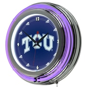 "Trademark 14"" Double Ring Neon Clock, Texas Christian University"