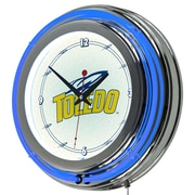 "Trademark 14"" Double Ring Neon Clock, University of Toledo"