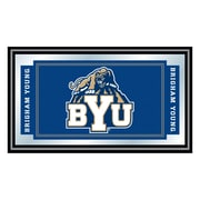 """Trademark NCAA 15"""" x 26"""" x 3/4"""" Wooden Logo and Mascot Framed Mirror, Brigham Young University"""