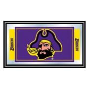 "Trademark NCAA 15"" x 26"" x 3/4"" Wooden Team Logo Framed Mirror, East Carolina University"