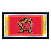 "Trademark NCAA 15"" x 26"" x 3/4"" Wooden Logo and Mascot Framed Mirror, Maryland University"