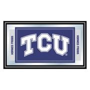 "Trademark NCAA 15"" x 26"" x 3/4"" Wooden Logo and Mascot Framed Mirror, Texas Christian University"