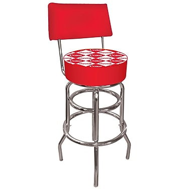 Trademark 40'' Novelty Swiveling Base Padded Bar Stool, Red (844296082490)