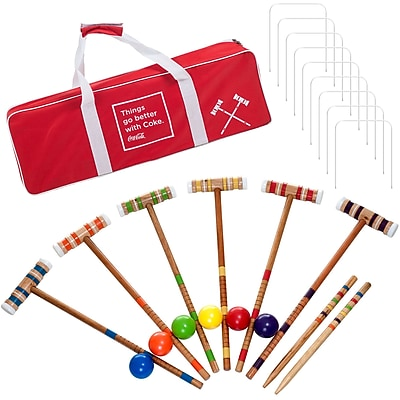 Trademark Coca-Cola 24 Piece 6 Player Croquet Set