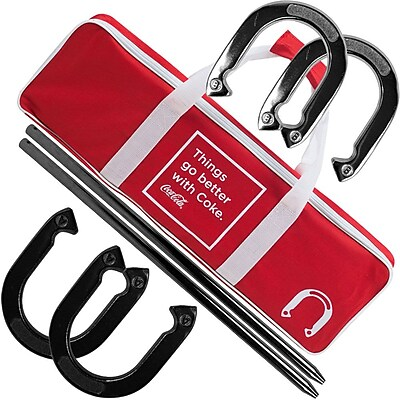 Trademark Coca-Cola Horseshoe Set With Carry Case 1182557