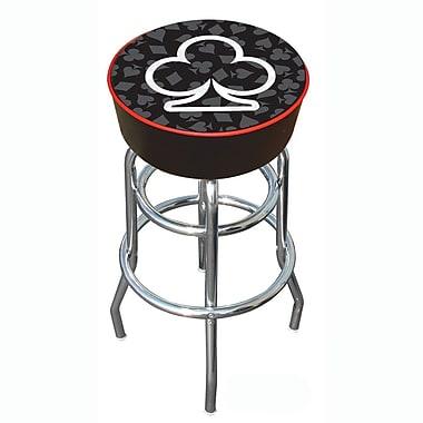 Trademark 30'' Novelty Swiveling Base Padded Bar Stool, Black/White (886511378834)