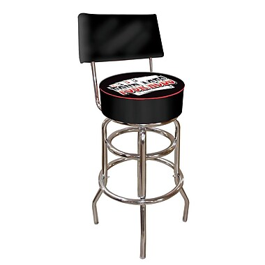 Trademark 40'' Novelty Swiveling Base Padded Bar Stool, Black (844296015672)