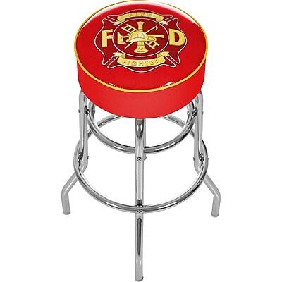 Trademark 30'' Novelty Swiveling Base Padded Bar Stool, Yellow/Red (886511378872)