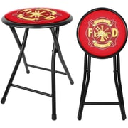 "Trademark 18"" Cushioned Folding Stool, Fire Fighter"