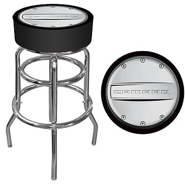 Trademark 30'' Novelty Swiveling Base Padded Bar Stool, Silver/Black (886511379152)