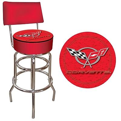 Trademark 40'' Novelty Swiveling Base Padded Bar Stool, Red (844296020096)