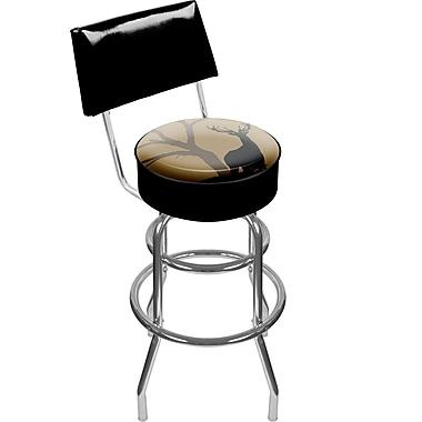 Trademark 41.75'' Modern Swiveling Base Padded Bar Stool, Black (886511085947)