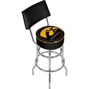 "Trademark 40"" NCAA Padded Swivel Bar Stool With Back, University of Iowa"