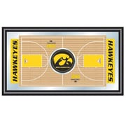 "Trademark NCAA 15"" x 26"" x 3/4"" Wooden Basketball Full Court Framed Mirror, University of Iowa"