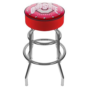 Trademark NCAA® 31'' Novelty Swiveling Base Padded Bar Stool, Red (886511085817)