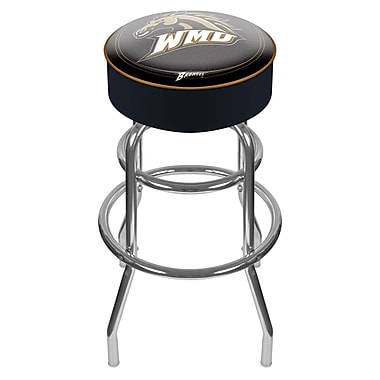 Trademark NCAA® 31'' Novelty Swiveling Base Padded Bar Stool, Black (844296040889)