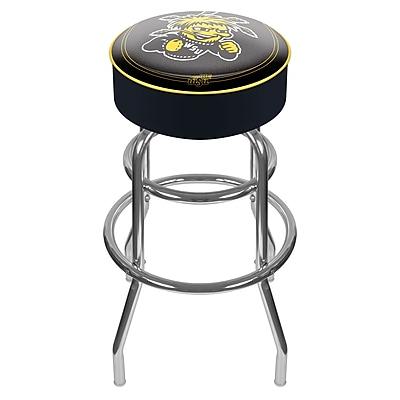 Trademark NCAA® 31'' Novelty Swiveling Base Padded Bar Stool, Black (844296031856)