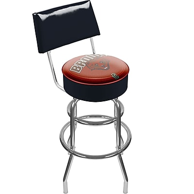 Trademark NCAA® 41.75'' Modern Swiveling Base Padded Bar Stool, Chrome (844296040896)