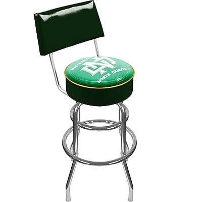 Trademark NCAA® 41.75'' Modern Swiveling Base Padded Bar Stool, Chrome (886511123076)