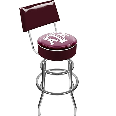 Trademark NCAA® 41.75'' Modern Swiveling Base Padded Bar Stool, Chrome (844296013302)