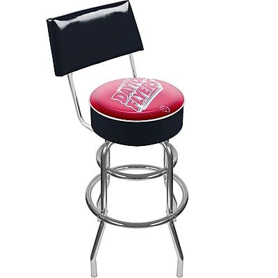 Trademark NCAA® 41.75'' Modern Swiveling Base Padded Bar Stool, Chrome (886511123083)