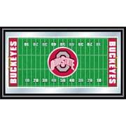 "Trademark NCAA 15"" x 26"" x 3/4"" Wooden Football Field Framed Mirror, The Ohio State"