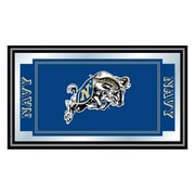 "Trademark NAVY 15"" x 26"" x 3/4"" Wooden Logo and Mascot Framed Mirror, United States Naval Academy"