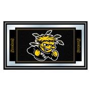 "Trademark NCAA 15"" x 26"" x 3/4"" Wooden Logo and Mascot Framed Mirror, Wichita State University"