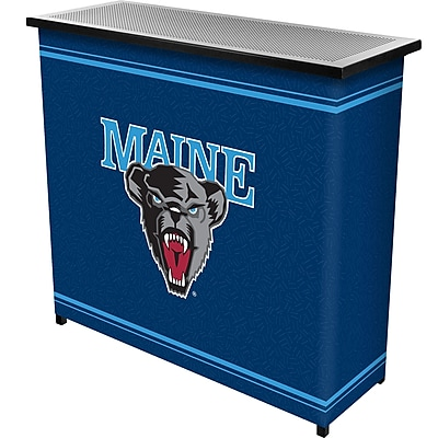 "Trademark 36"" Metal Portable Bar With Case, University of Maine"